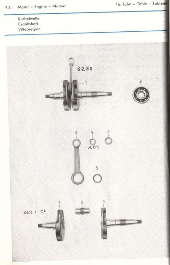 Motor - Kurbelwelle (16.)
