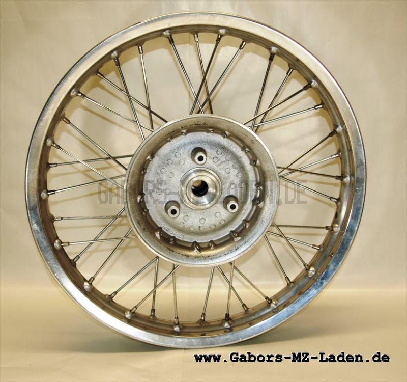 Hinterrad mit Aluminiumfelge ohne Radlager