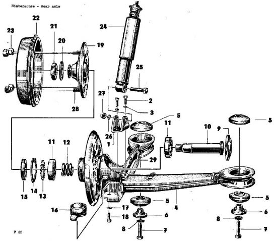 F22 Hinterradachse