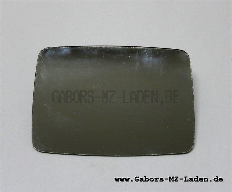 Spiegelglas, plan eckig (rechteckig) Simson, MZ, Trabant 132mmx92mm