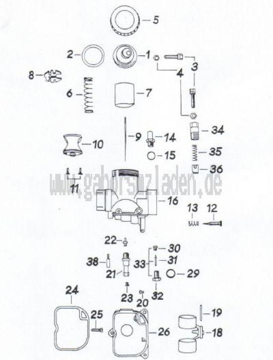 23a Vergaser für 12,75 KW- Version ( BRD )