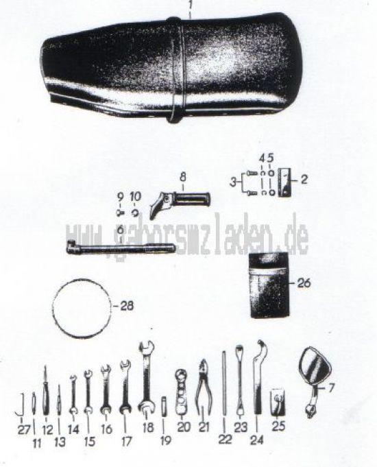 13. Sättel, Werkzeug, Zubehör
