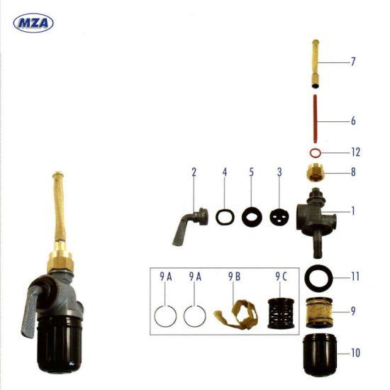 EHR Kraftstoffhahn (73220) für AWO, RT125,125/1,125/2,125/3, IWL Pitty, Wiesel, Berlin