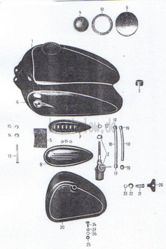 08. Kraftstoffbehälter, Werkzeugbehälter