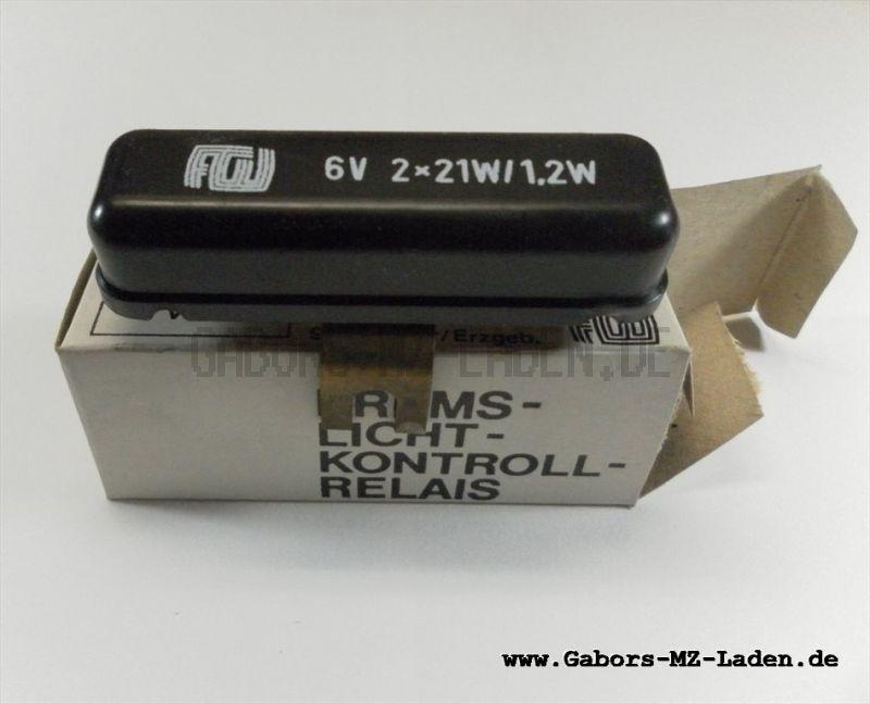 Bremslichtkontrollrelais 6V 2x21W/1,2W