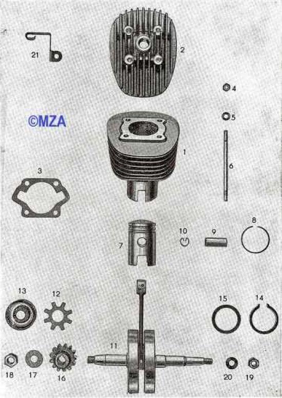 13. Zylinder, Kolben, Kurbelwelle