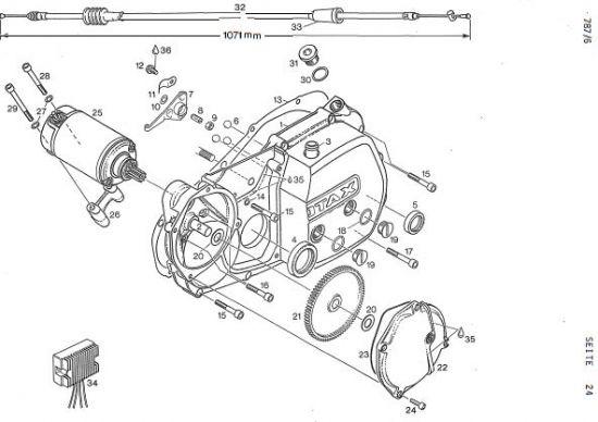 6.25 Motor - Kupplungsdeckel, Elektrostarter