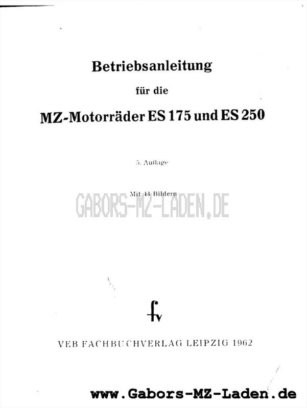 MZ ES 175, 250