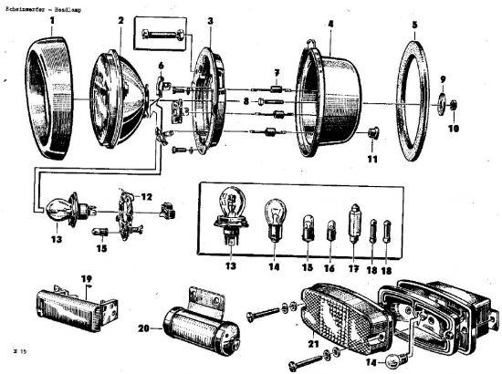 E15 Scheinwerfer