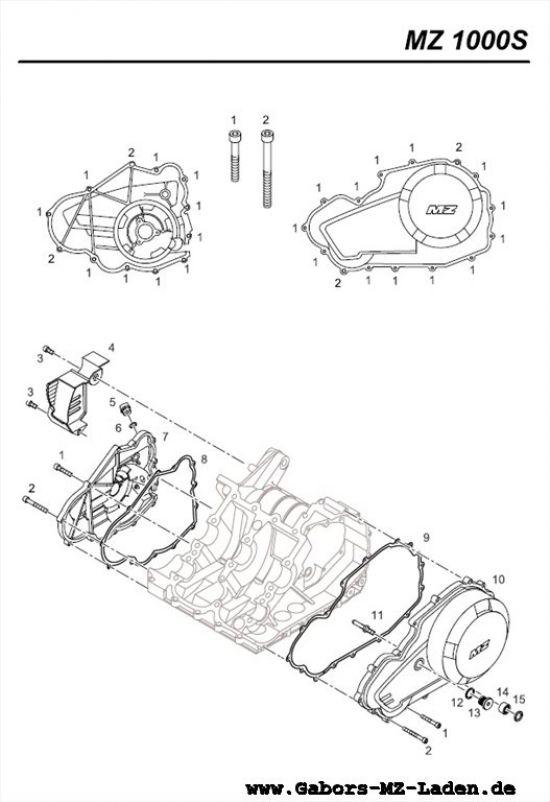 M02. Kurbelgehäusedeckel