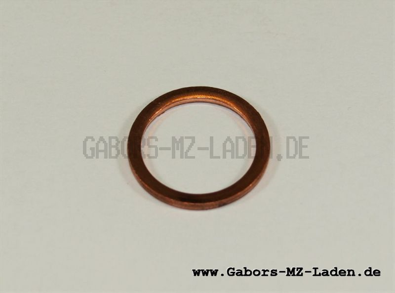 Dichtring  A14x18x1,5  -  Kupfer DIN 7603
