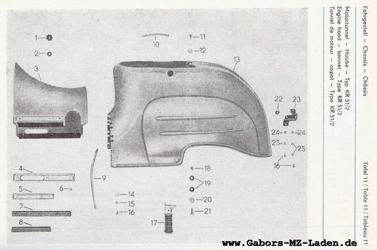 Fahrgestell - Motortunnel, Haube (11)