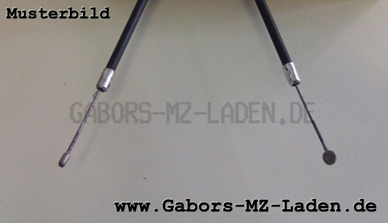 Bowdenzug/Seilzug -schwarz- Starter flach Bing 84 TS/ETZ 250/251/300, Bing 53 ETS/TS 125/150