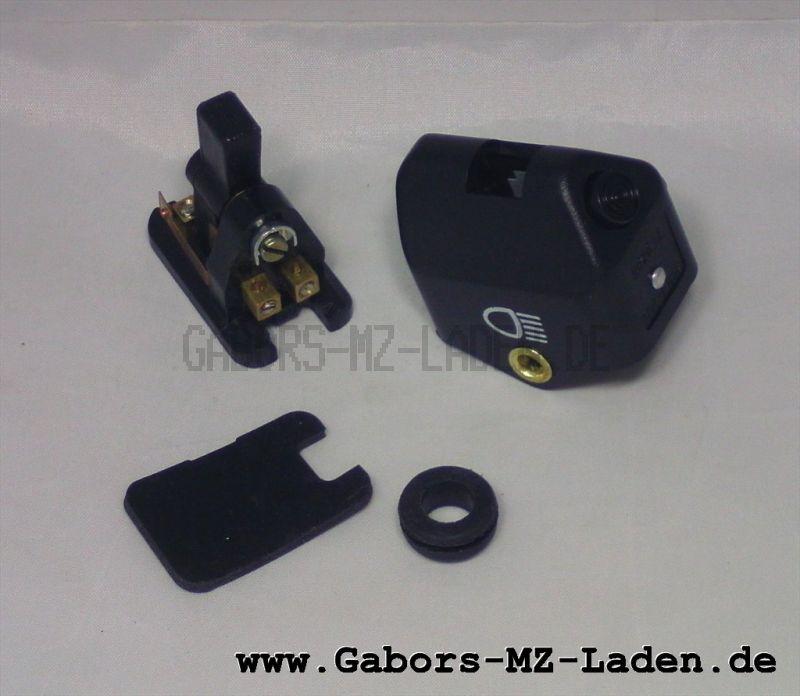 Abblendschalter m. Hupe kpl.  mit Ausschnitt - Plaste  8626.21/2 - LAS/S - ohne Tülle (14283)