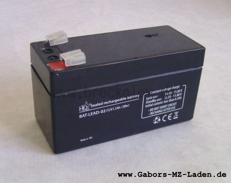 Batterie 12V/1,3AH (LCR12v1.2P) verschlossen