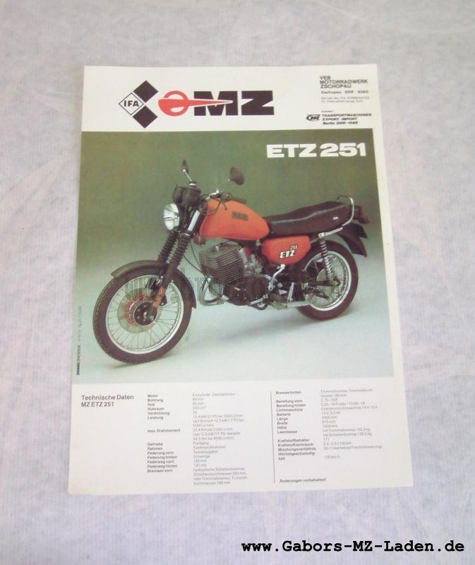 Prospekt MZ ETZ 251