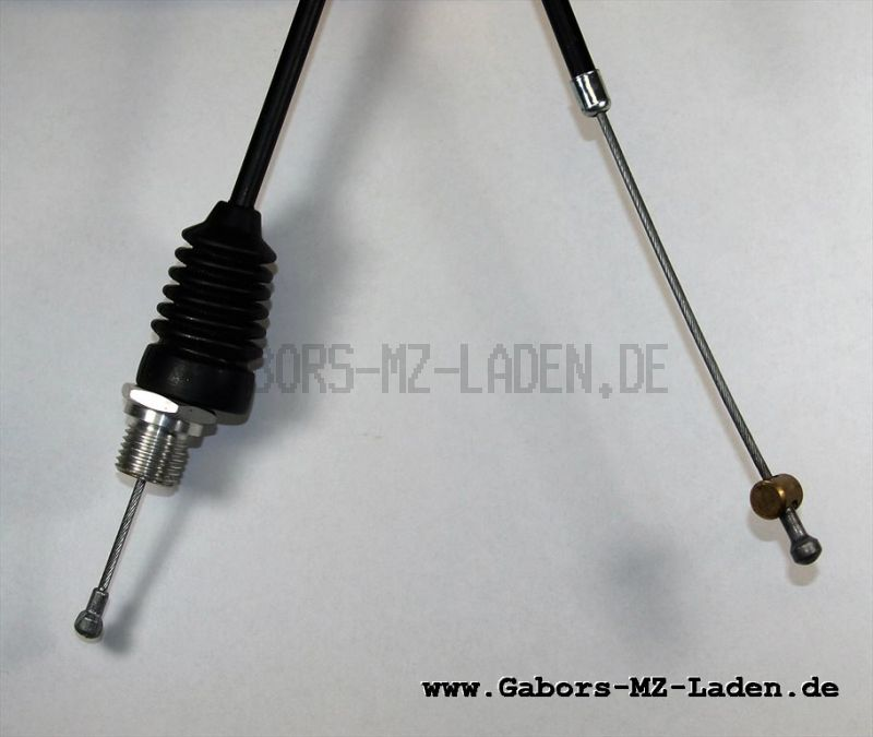 Bowdenzug/Seilzug für Kupplung schwarz mit Verschraubung