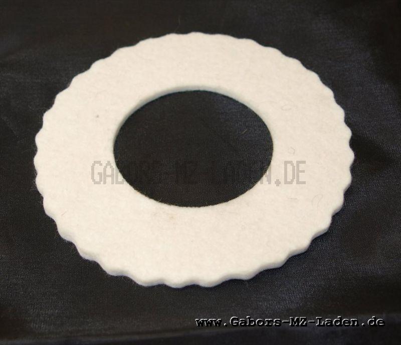 Tankschutzring aus Filz- weiß für 40mm Tankdeckel