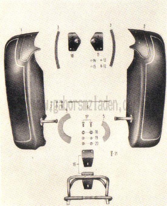 22. Beinschutzbleche, Kofferträger