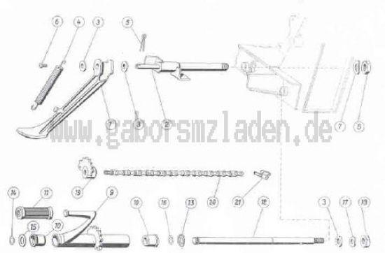 06 Soporte lateral y pedal arrancador