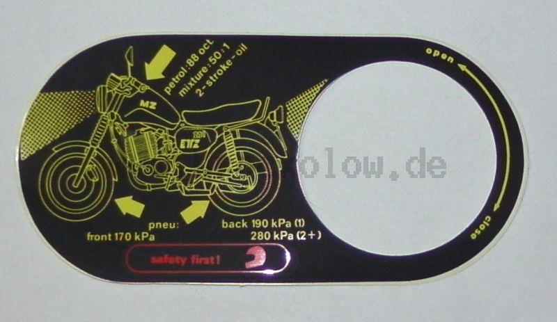 Aufkleber für Gemisch ETZ 251 / 301