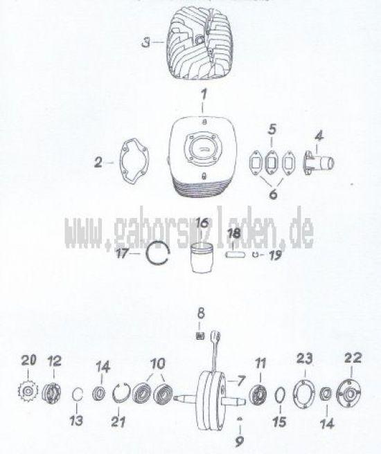 20. Zylinder, Kolben, Kurbelwelle
