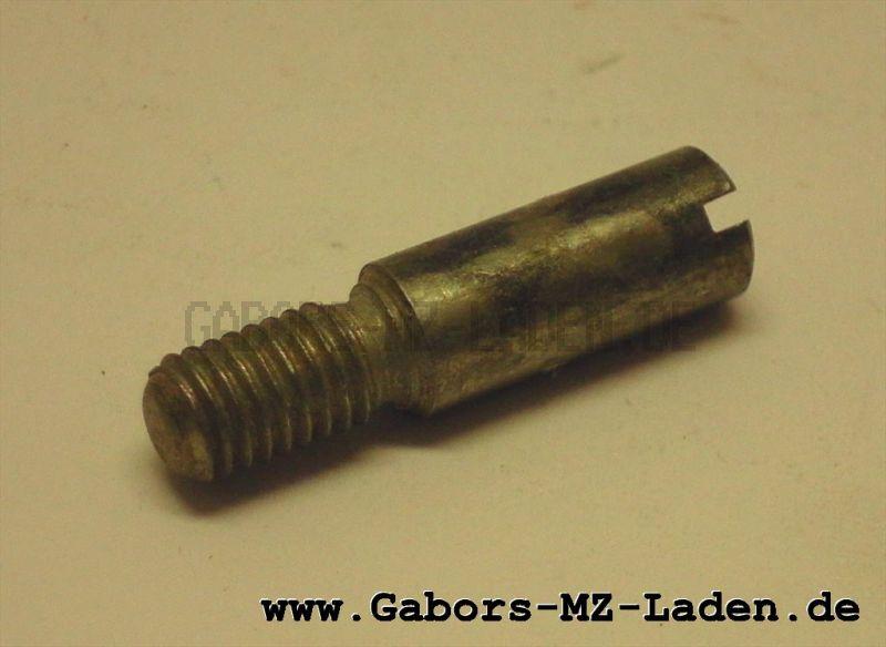 Befestigungsschraube - kurz - 6x25 - Gewinde M5 - glanzverzinkt -  für Handhebel Simson