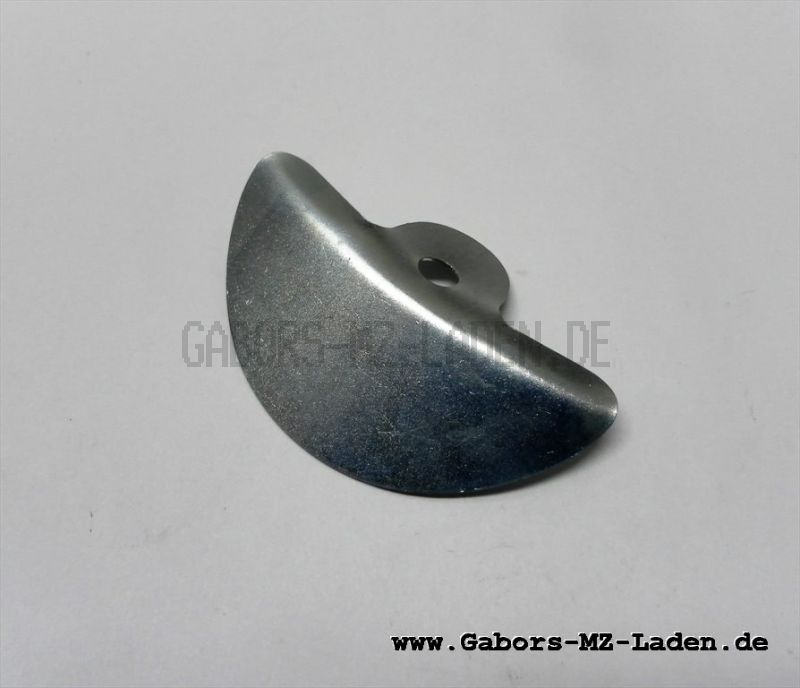 Retaining plate for seat rubber