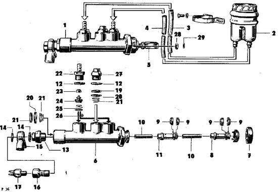 F36 Zweikreis- Hauptbremszylinder