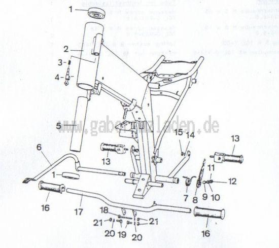 2.01. Rahmen - Fussrasten - Hinterradbremse