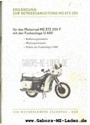 MZ ETZ 250 F Volkspolizei