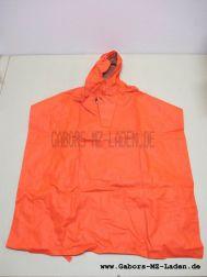 Radfahrumhang orange mit Kapuze