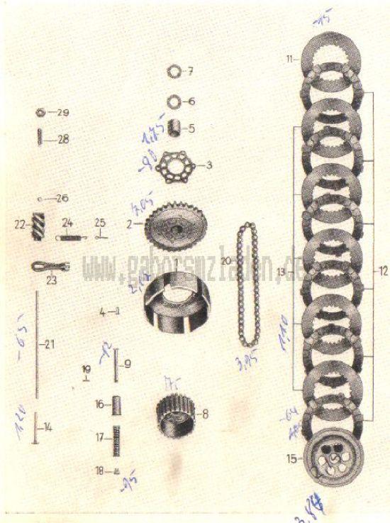 04. Kupplung (auch für Rollermotor RM 150/1)