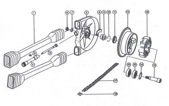Hinterradantrieb ETZ 251/301