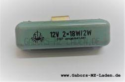 Bremslichtkontrollrelais 12V 2x18W/2W