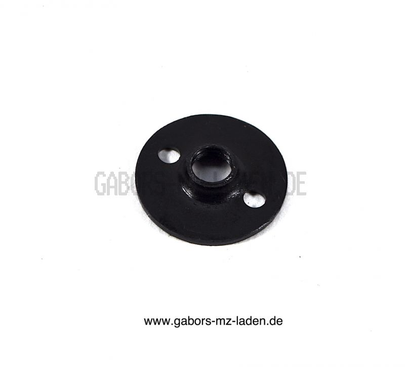 Washer for seat rubber fastening on tenter - with thread