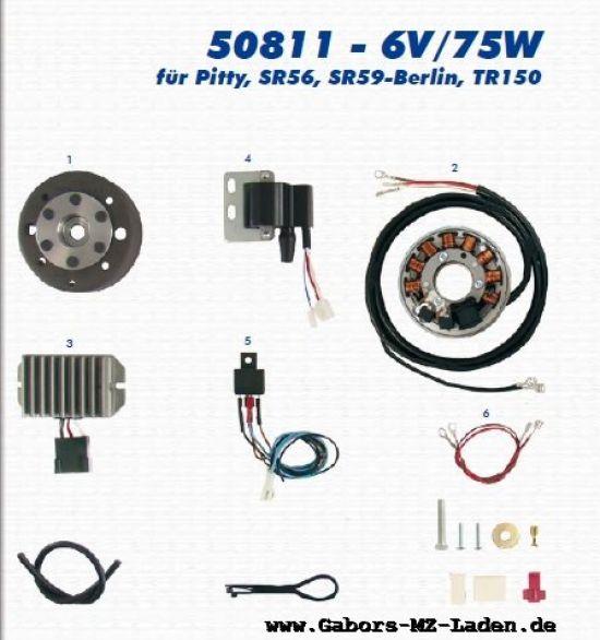 13a. VAPE Lichtmagnetzündanlage 50811 6V/75W