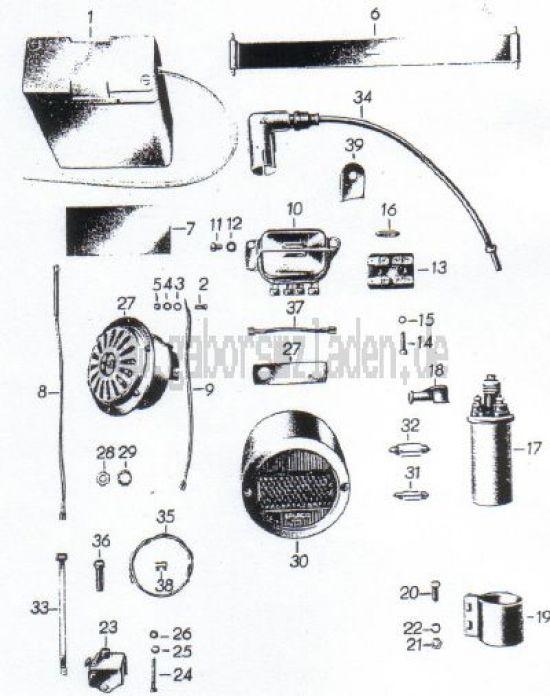 15. innere Elektrik, Rücklicht, Signalhorn