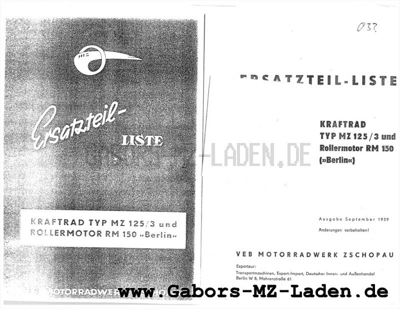 MZ RT 125/3, MOTEUR RM150 BERLIN