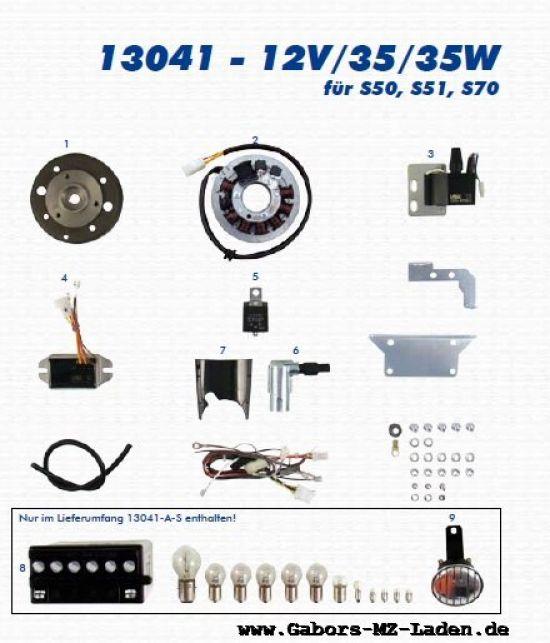 VAPE Lichtmagnetzündanlage 13041 12V35/35W - S50, S51, S70