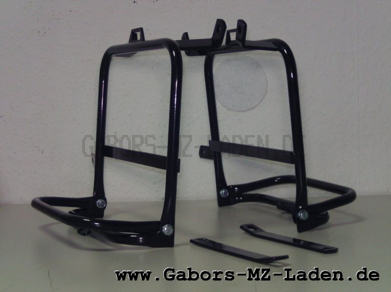 Set luggage rack for side panniers ETZ 250, fits Pneumant suitcases, foldable with screw set
