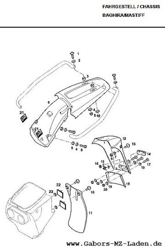F12. Hinterradkotflügel