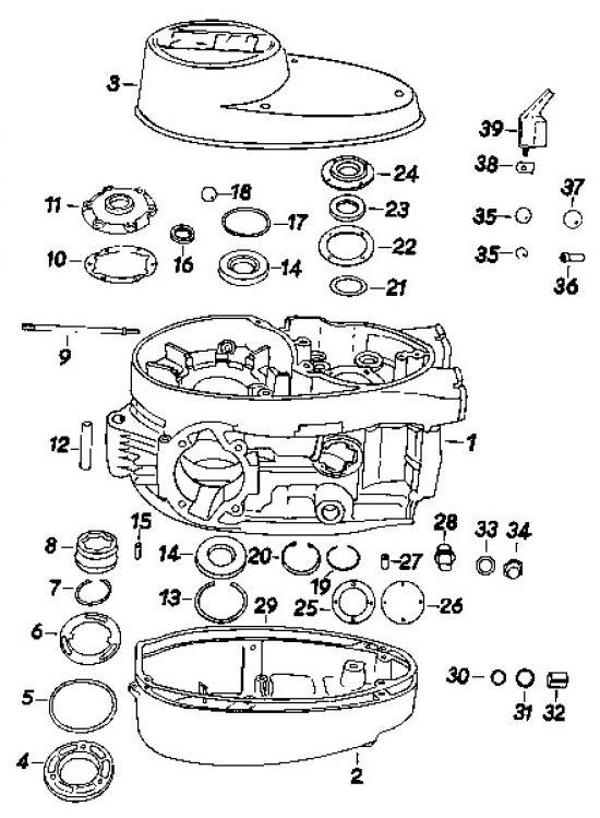 17 Gehäuse, Kupplungs- Lichtmaschinendeckel