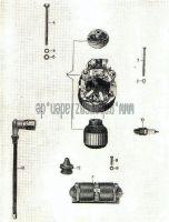 Lichtmaschine vollständig, Zündspulenträger, Zündkabel