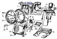 Armaturen- Scheinwerfergehäuse, Gerätekombination