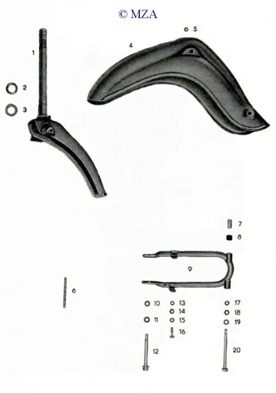 Schwingenträger Kotflügel Schwinge