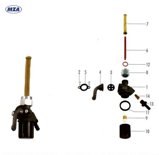 EHR Kraftstoffhahn (15730) MZ ETZ 251, 301