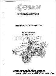 Seitenwagen Super-Elastik für ETZ 250,251