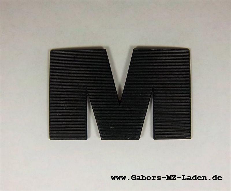 """Buchstabe """"M"""" links, schwarz"""