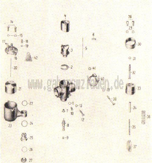 05a. Vergaser, -Einzelteile ES 150